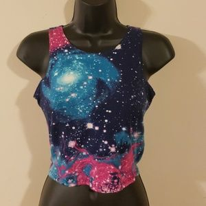 💫Galaxy Print Crop Top💫